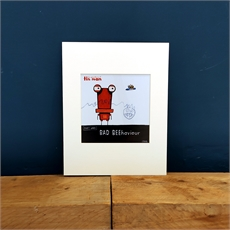 Matted Print Tin Man Bad Beehaviour-artists-and-brands-The Vault