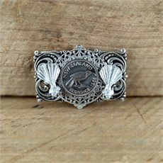 Layered Brooch w Sixpence Fantails-jewellery-The Vault