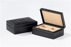 Cufflinks & Ring Box - Pacific-Black-cuff-link-boxes-The Vault