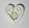 White Marble Candle Holder Koru Heart-home-The Vault