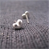 Tiny Heart Studs Silver-jewellery-The Vault