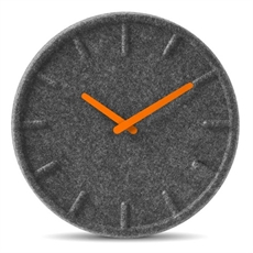 Leff Felt 35 Orange Wall Clock-leff-The Vault