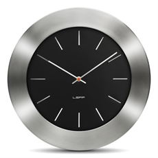 Leff Bold 35 Black Index Wall Clock-leff-The Vault