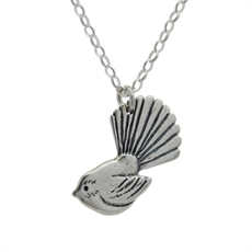 Fantail Pendant Silver-sustainable-jewellery-The Vault