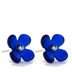 Hydrangea Studs Dark Blue-jewellery-The Vault
