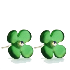 Hydrangea Studs Green -jewellery-The Vault