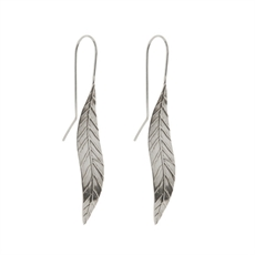 Silver Leaf Earrings Small-nick-feint-The Vault