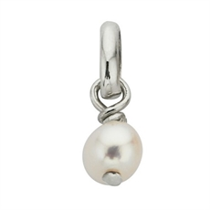 K Ash Synthetic Pearl Charm Silv-jewellery-The Vault