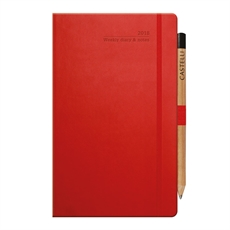 Tucson Ivory Med Wkly Red Diary-castelli-The Vault