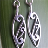 Sterling Silver Kowhaiwhai Earrings-jewellery-The Vault