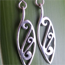 Sterling Silver Kowhaiwhai earrings. -martyn-milligan-The Vault