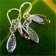 Silver Copper Small Bud & Leaf ER-jewellery-The Vault