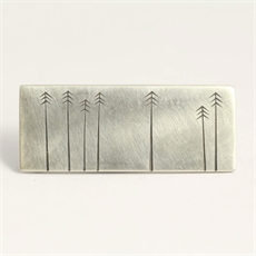 Pine Brooch Ash Hilton Silver -brooches-The Vault