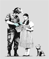 Banksy Print Police Inspects Dorothy-home-and-wedding--The Vault