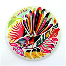 Pocket Mirror Colourful Fantail-tofutree-design-The Vault