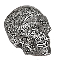 Cobble Skull Black-glass-and-ceramics-The Vault