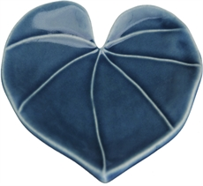 Wall Heart Leaf Med Saphire Blue-glass-and-ceramics-The Vault