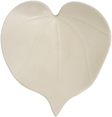 Wall Heart Leaf Lrg Bone White-glass-and-ceramics-The Vault