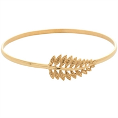 Fern Bangle - 18ct Gold Plate-jewellery-The Vault