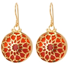 Fez Carnelian Er 18ct Gold Plate-kerry-rocks-The Vault