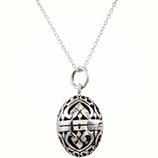 Floral Locket - Silver-kerry-rocks-The Vault