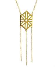 Deco Necklace - 18ct Gold Plate-kerry-rocks-The Vault