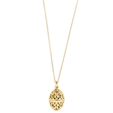 Floral Locket  18ct Gold Plate-kerry-rocks-The Vault