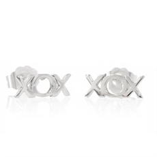Lil Hug and Kisses Silver Studs-boh-runga-The Vault