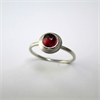Little Gem Ring Garnet K-O-jewellery-The Vault