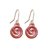 Copper Koru Drop Earrings-jewellery-The Vault