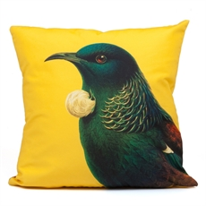 Cushion Cover Tui Yellow-home-The Vault