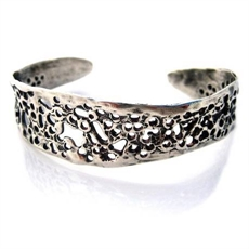 Lace Cuff Stg Silver Louise Douglas -bracelets-and-cuffs-The Vault