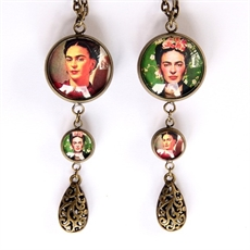 Frida Kahlo Double Sided Drop Pendant-katy-grace-The Vault