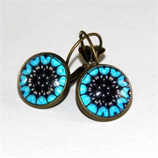 Blue Deco Earrings by Katy Grace-katy-grace-The Vault