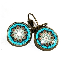 Blue Moroccan One Earrings-katy-grace-The Vault