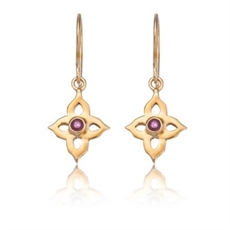 Estelle Ruby Ers - Stg Gold Plate-kerry-rocks-The Vault