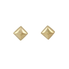 Pyramid Studs - Stg Gold plate-kerry-rocks-The Vault