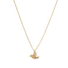 Fine Hummingbird Necklace Gold Plate-kerry-rocks-The Vault