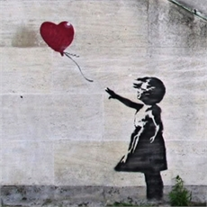 A3 Banksy Heart Balloon Print-home-and-wedding--The Vault