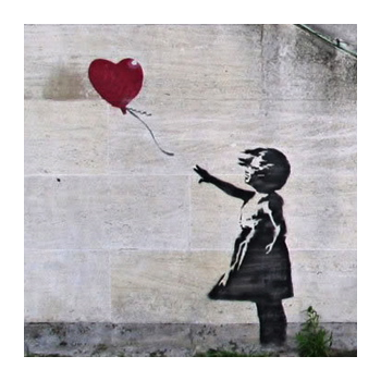 A3 Banksy Heart Balloon Print Osnz Gifts For Home From