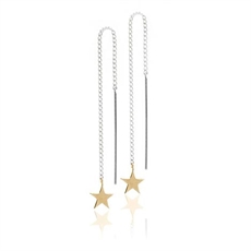 Stargazer Thread Earrings 9ct Gold-jewellery-The Vault
