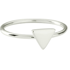 Triangle Ring - Stg Silver-kirstin-ash-The Vault