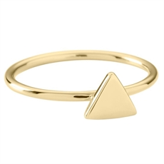 Triangle Ring - Gold Vermeil-rings-The Vault