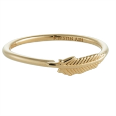 Feather Ring - Gold Vermeil-rings-The Vault