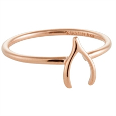Wishbone Ring - Rose Gold Vermeil-rings-The Vault