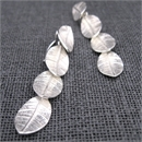 Whalebird Leaf Fall Earrings- Silver