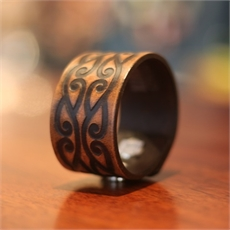 38mm  ML Brown Kiriawa Cuff -clothing-and-accessories-The Vault