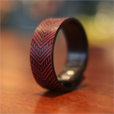 25mm Kiriawa Red Leather Cuff SM-clothing-and-accessories-The Vault