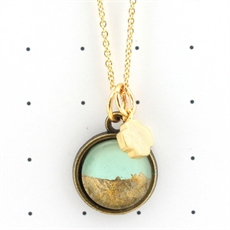 Petite Mint & Gold Necklace-jewellery-The Vault
