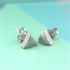 Silver Triangle Studs-jewellery-The Vault